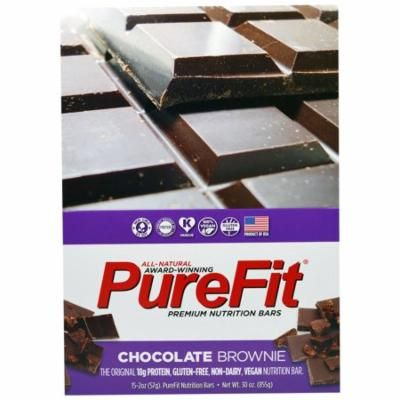 Pure Fit Bars, Premium Nutrition Bars, Chocolate Brownie, 15 Bars, 2 oz (57 g) Each(pack of 1)