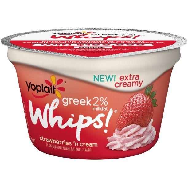Yoplait® Greek 2% Whips!® Low Fat Strawberries 'n Cream Yogurt Mousse