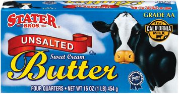 Stater bros Unsalted Sweet Cream 4 Quarters Butter