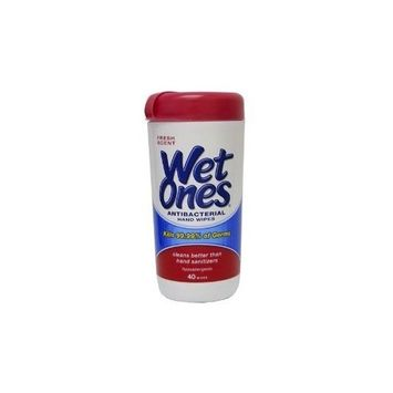 Wet Ones Antibacterial Moist Towelettes ToweletteWet Ones Antibacterial 40-Count (Pack of 12)