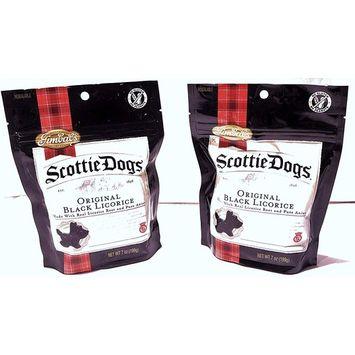 Gimbal's Scottie Dogs All Natural Black Licorice-Real Licorice Root and Pure Anise-7 Ounce Resealable Bags (2 Pack)