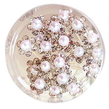 DZT1968 Women Wedding Bridal Hair Pin Clear Crystal Rhinestone Hairpins Clips 20pcs