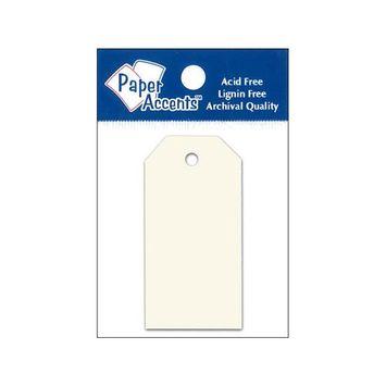 Craft Tags 1.25x2.5 25pc Cream