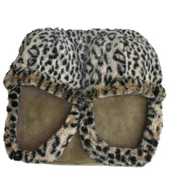 Spa Massage Foot Massager With Leopard Pattern & Micro Plush Fabric