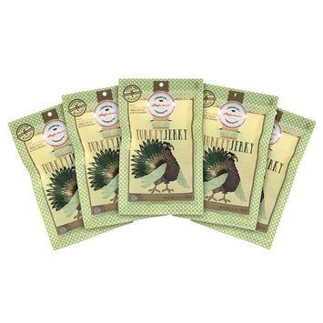 Aufschnitt Turkey Jerky | Star-K Certified Glatt Kosher | Gluten Free, No Nitrites | Responsibly Sourced | 5 Packs - Basil Lime Flavor - 2 Oz Each [Basil Lime]