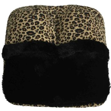 Spa Massage Foot Massager With Cheetah Pattern & Micro Plush Fabric