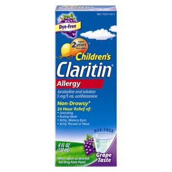 Children's Claritin® 24 Hour Non-Drowsy Allergy Relief Grape Liquid Syrup - Loratadine - 4fl oz