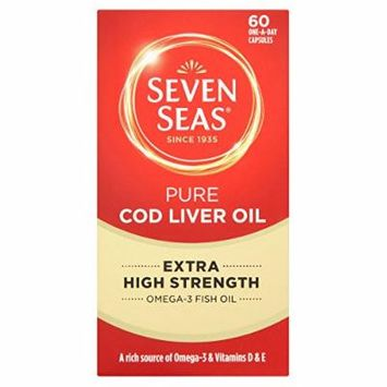 Seven Seas Pure Cod Liver Oil Extra High Strength 60 One-a-day Capsules