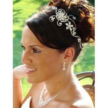 Couture Rhinestone Floral Design Bridal Comb