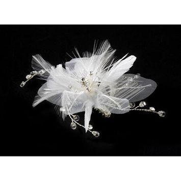 IVORY Floral Bridal Comb