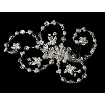Elegant Pearl & Crystal Hair Accent Comb