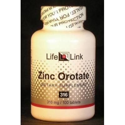 Zinc Orotate 316mg LifeLink 100 Tabs