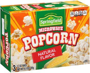 Springfield® Natural Flavor Microwave Popcorn