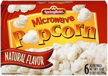 Springfield® Microwave Popcorn Natural Flavor