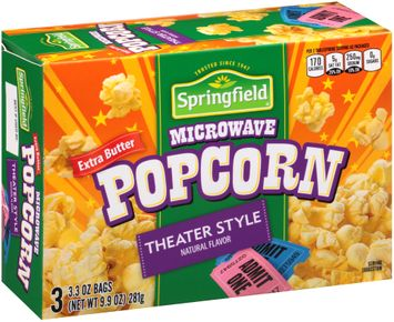 Springfield® Extra Butter Theater Style Microwave Popcorn