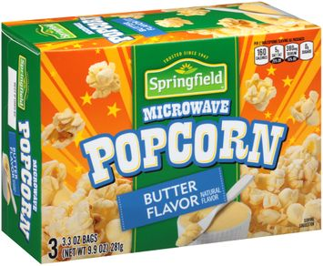 Springfield® Butter Flavor Microwave Popcorn