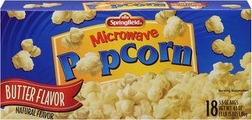 springfield® microwave popcorn butter flavor
