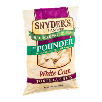 Snyder's Of Hanover Tortilla Chips Reduced Fat White Corn