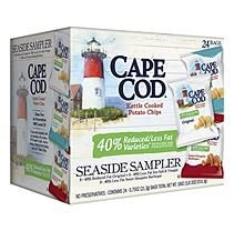 Synder's Of Hanover Cape Cod Kettle Cooked Potato Chips 24 x 0.75 oz Reduced Fat