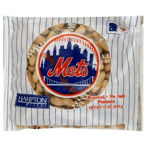 Hampton Farms New York Mets Unsalted In-Shell Roasted Peanuts - 12oz