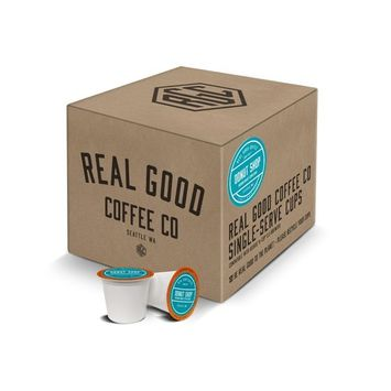 Real Good Coffee Co Recyclable K Cups, Donut Shop Medium Roast, For Keurig K-Cup Brewers, 36 Single Serve Coffee Pods [Donut Shop Medium]