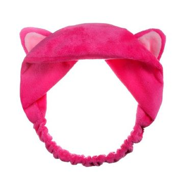 Polytree Women Cute Cat Ears Elastic Headband Head Bands