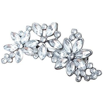 Women's Rhinestone Flower Crystal Hair Clip Wedding Party