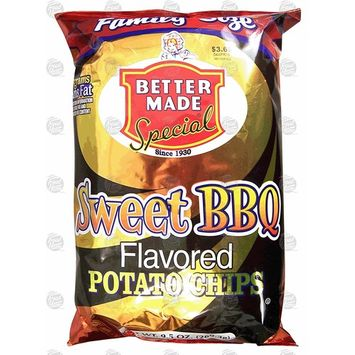 Better Made Family Size sweet bbq flavored potato chips 9.5-oz. bag (pack of 1)