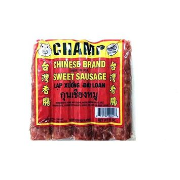Champ Thai Chinese Style Pork Sausages 11 Oz. (Pack of 3) กุนเชียง