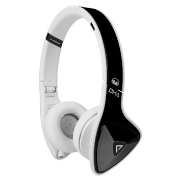 Monster Cable Monster DNA On-Ear Headphones - Black/White (MHDNAONBKWCAWW)