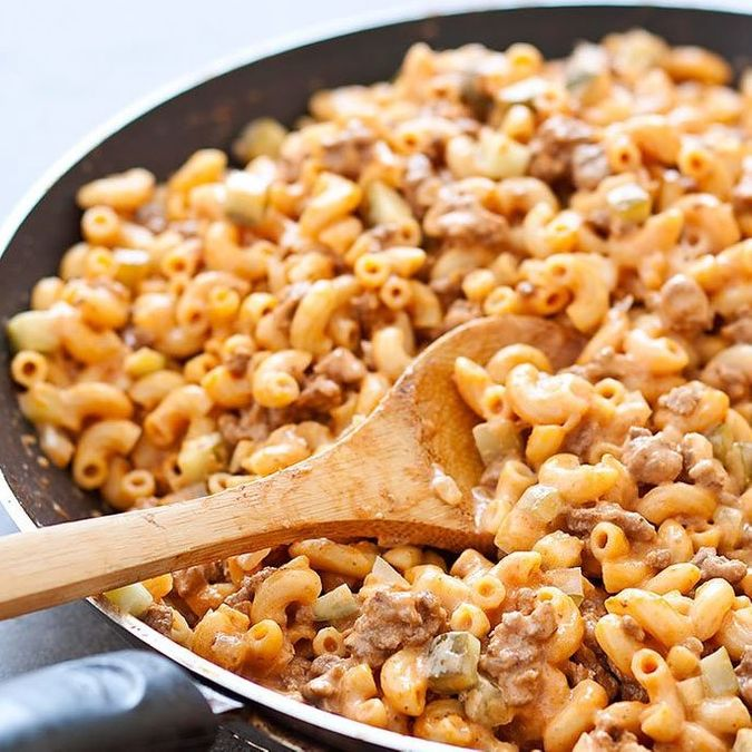 Healthier Cheeseburger Mac