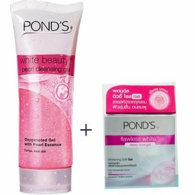 POND's White Beauty Pearl Cleansing + Flawless Dewy Rose Gel Set