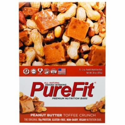 Pure Fit Bars, Premium Nutrition Bars, Peanut Butter Toffee Crunch, 15 Bars, 2 oz (57 g) Each(pack of 3)