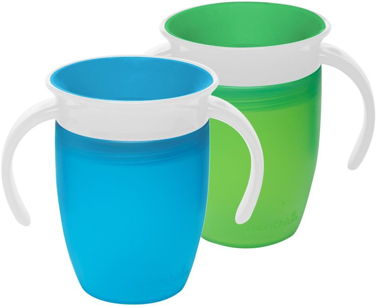Munchkin Miracle 360 Degree 7 Ounce Trainer Cup - 2 Pack