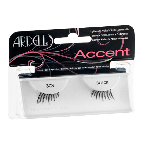 Ardell Accent Lightweight Lashes Black 308