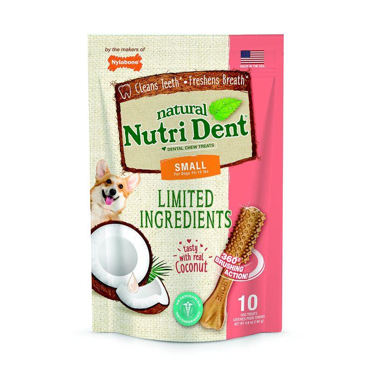 Nylabone Nutri Dent Limited Ingredients Coconut Dog Treats, 4.9 oz.