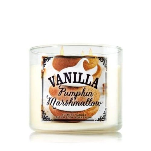 Bath & Body Works® VANILLA Pumpkin Marshmallow 3 Wick Scented Candle
