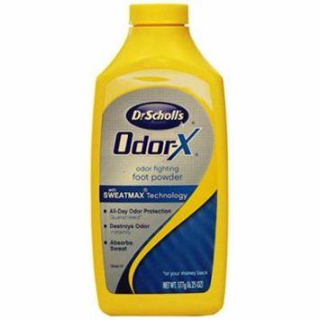 5 Pack - Dr. Scholl's Odor-X Odor Fighting Foot Powder 6.25 oz Each