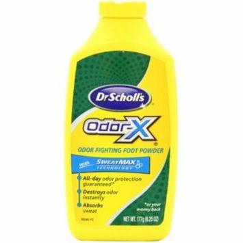3 Pack - Dr. Scholl's Odor-X Odor Fighting Foot Powder 6.25 oz