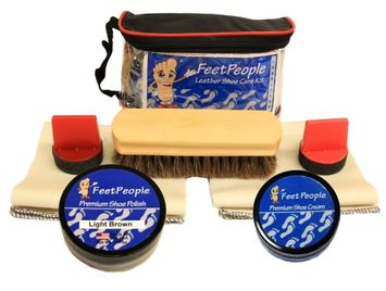FeetPeople Premium Conditioning Kit with Travel Bag, Light Brown