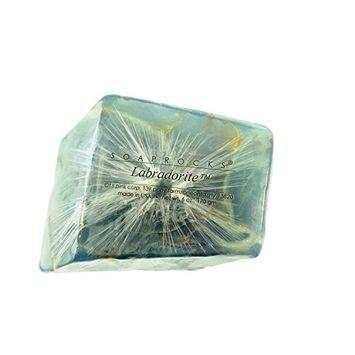 TS Pink Labradorite SoapRocks - Soap that looks like a Rock ~ 6 oz. Gem Rocks Birthstone Jabón Gemstone