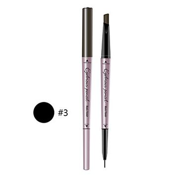 Fdrirect Dual Ended Eyebrow Pencil Tint Natural Long Lasting 2-in-1 Eye Brow Pen Makeup