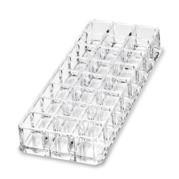 Cosmetic Acrylic Lipstick Organizer -Clear 24 Space Storage Beauty Organizer and Holder for all your Lipsticks by Coles Organic Supplies