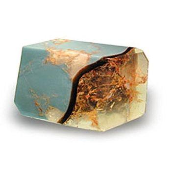 T.S. Pink Turquoise Fragrance-free - Soap that looks like a Rock ~ 6 oz. Gem Rocks Birthstone Jabón Gemstone