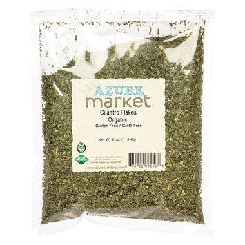 Azure Market Organics Cilantro, Flakes, Organic - 4 oz