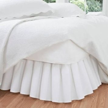 Ruffled Poplin Collection with Bed Skirts and Shams, sold separately