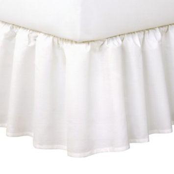 Ruffled Queen White Bed Skirt 14\