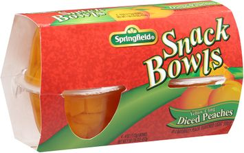 Springfield® Yellow Cling Diced Peaches Snack Bowls