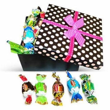 Dulcefina, Gran Misto Italian Great Chocolate Truffles Polka Dots Box w/Bow (1 pcs)