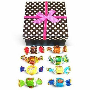 Dulcefina, Ultima Misto Italian Fantacy Chocolate Truffles Dots Box w/Bow (1 pcs)